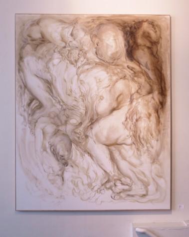"""""""Headless"""" oil on canvas, 89"""" x 68"""", 2009"""